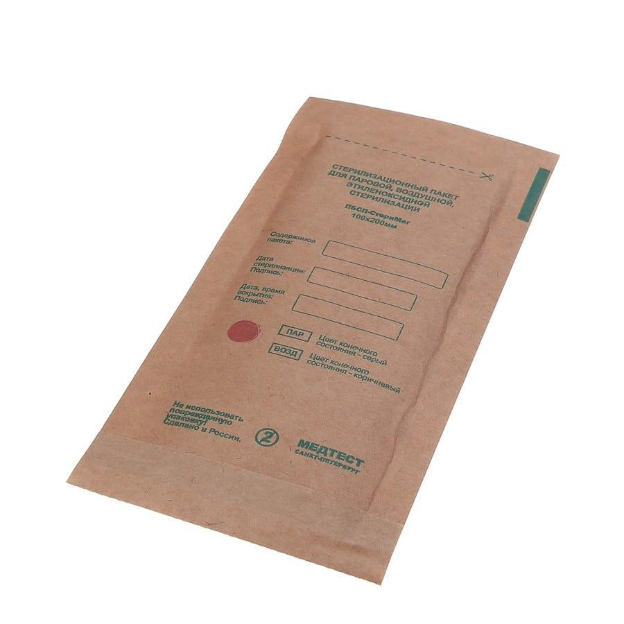 Крафт-пакеты бумажные (коричневые) 100×200 mm