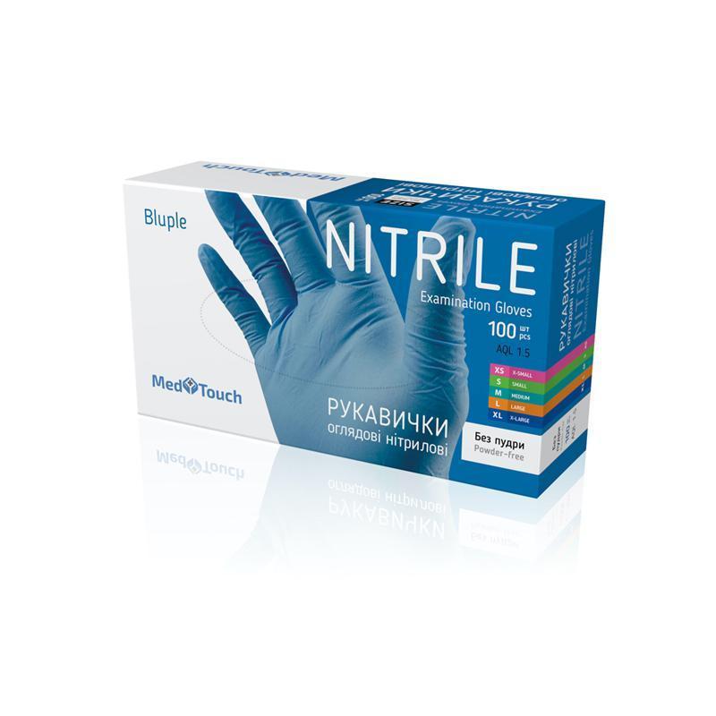 Перчатки нитриловые Med Touch, 100 шт