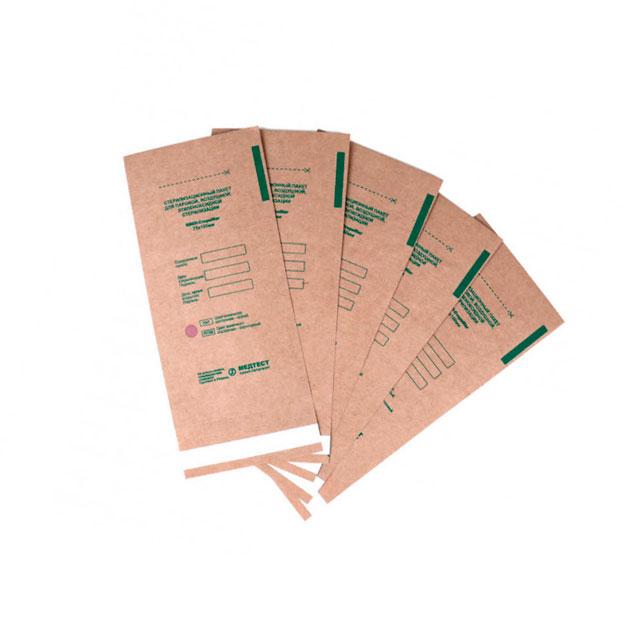 Крафт-пакеты бумажные (коричневые) 75×150 mm